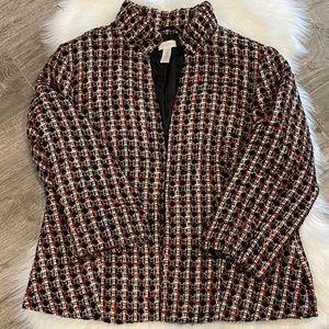 Chico's Tweed Blazer Size 2